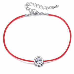 Jewelry - 5 for $25 Red String Clear Crystal Charm Bracelet